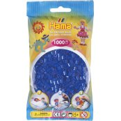 Hama Beads Solid Colours 1000 Pack - 36 Neon Blue