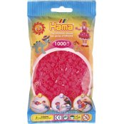 Hama Beads Solid Colours 1000 Pack - 32 Neon Fuchsia