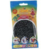 Hama Beads Solid Colours 1000 Pack - 71 Dark Grey