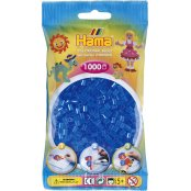 Hama Beads Solid Colours 1000 Pack - 15 Translucent Blue