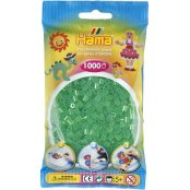 Hama Beads Solid Colours 1000 Pack - 16 Translucent Green