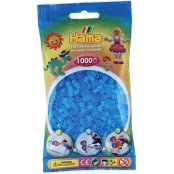 Hama Beads Solid Colours 1000 Pack - 73 Translucent Aqua