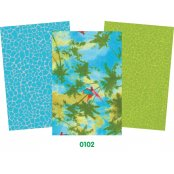 Decopatch Tropical Paper Pack - 3 Half Sheets Palm Trees,, Plain, Mottled