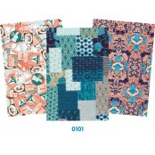 Decopatch Blue Paper Pack - 3 Half Sheets, Patterned