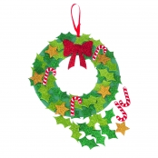 Christmas Glitter Wreath Kit - Self Adhesive - 1 Kit