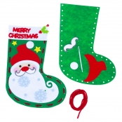 Christmas Santa Felt Stocking Kit