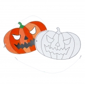 Colour in Pumpkin Masks - Pack of 5