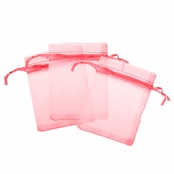 Red Organza Bags - 100 Pack