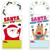 Colour-in Christmas Door Hangers - 4 Pack