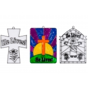 'He Lives' Suncatcher - Pack of 3