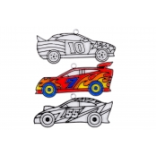 Racing Car Suncatchers - Pack of 3