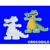 Large Hama Pegboards - Crocodile