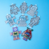 Robot Suncatchers - Pack Of 4