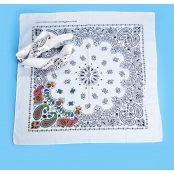 Colour In Patterned Fabric Bandana