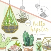 KaiserColour 'Hello Hipster' Adult Colouring Book