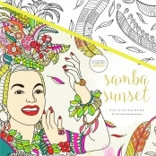 KaiserColour 'Samba Sunset' Adult Colouring Book