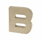 Paper Mache Small Letter B - 10cm high x 2cm thick