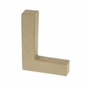 Paper Mache Small Letter L - 10cm high x 2cm thick