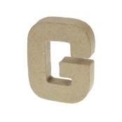 Paper Mache Small Letter G - 10cm high x 2cm thick