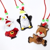 Foam Christmas Pom-pom Necklace Kit