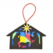 Nativity Silhouette Christmas Ornament Kit - 1 Kit
