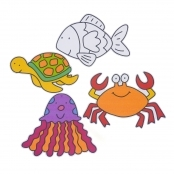 Sealife Collage Sticky Back Sheets - Pack Of 6