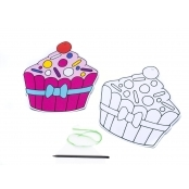 Cupcake Sticky Collage Sheets - Pack Of 6