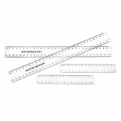 15cm Clear Plastic Rulers - 100 Pack