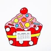 2018 Cupcake Colour In Calendar Craft Kit - Pack Of 10