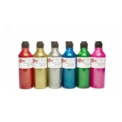 Glitter Paint Pack - 6 mixed bottles by Scola