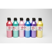Pearlised Acrylic Paint Pack - 6 x 300ml by Scola
