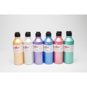 Metalic Fabric Paint Pack - 300ml 6 Pack