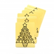 Christmas Tree Self Adhesive Peel Off Sheets