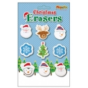 Christmas Erasers - Pack Of 9