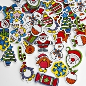 Christmas Foam Stickers - 57 Pack