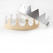 Silver And Gold Metallic Crowns - 12 Pack