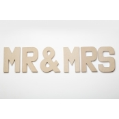 MR & MRS - Paper Mache Letters for Decorating and Decopatch