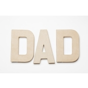 DAD - Paper Mache Letters for Decorating and Decopatch