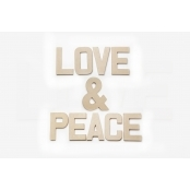 Love & Peace - Paper Mache Letters for Decorating and Decopatch