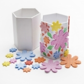 Pen Holder Flower Sticker Kit