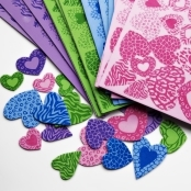 Animal Print Foam Heart Stickers Pack Of 4 Sheets