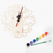 Decorate Your Own Bird Clock Kit- Paints Included