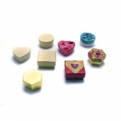 Miniature Gold Craft Boxes Heart Shaped