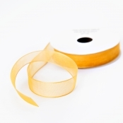 Gold Organza Ribbon for Crafts, Sewing and Decoration - 4.5M