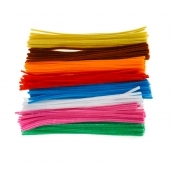 Single Colour Pipe Cleaner Pack - Orange (25)