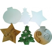 Card Hanging Decorations - Stars (10 Pack)