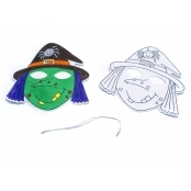 Halloween Witches Mask(Pack Of 5)