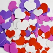 Foam Heart Stickers 65 Pack