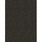 Decopatch Paper Texture 778 - Half Sheet - Black/Gold Stars