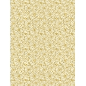 Decopatch Paper Texture 790 - Half Sheet - Gold Flowers
